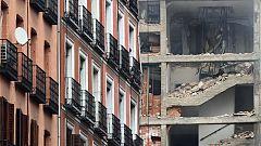 Vecinos y testigos, en shock tras la explosión de un edificio del centro de Madrid