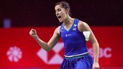 Así ganó Carolina Marín a Line Kjaersfledt