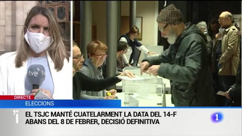 El TSJC manté cautelarment la data de les eleccions pel 14-F