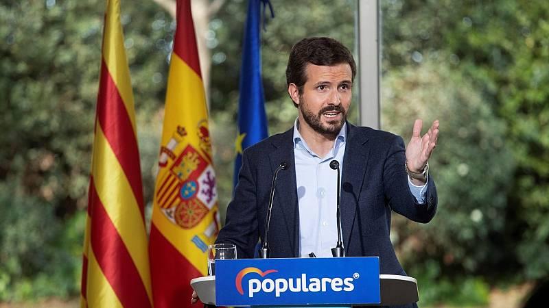 Casado denuncia que Sánchez e Illa estén de campaña en Cataluña y no tomen medidas contra la pandemia
