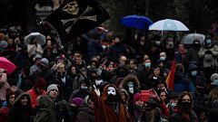 Manifestación negacionista en Madrid en plena tercera ola de la pandemia