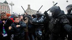 Detenciones masivas en Rusia en las manifestaciones de apoyo al opositor Navalny convocadas en ciudades de todo el país