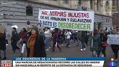 Una manifestación negacionista en Madrid concentra a 1.300 personas