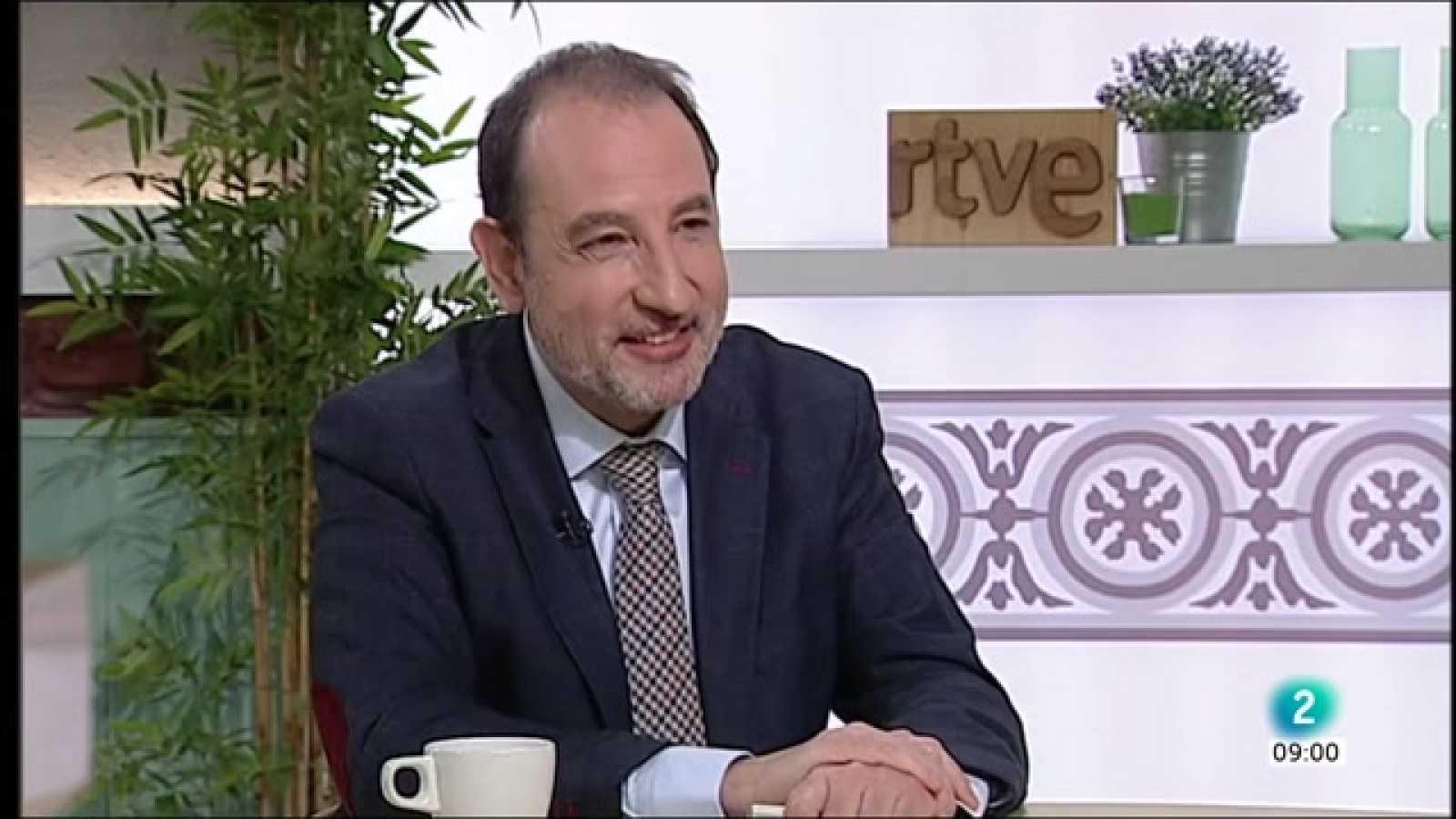 Gemma Nierga entrevista Ramon Espadaler al Cafè d'idees