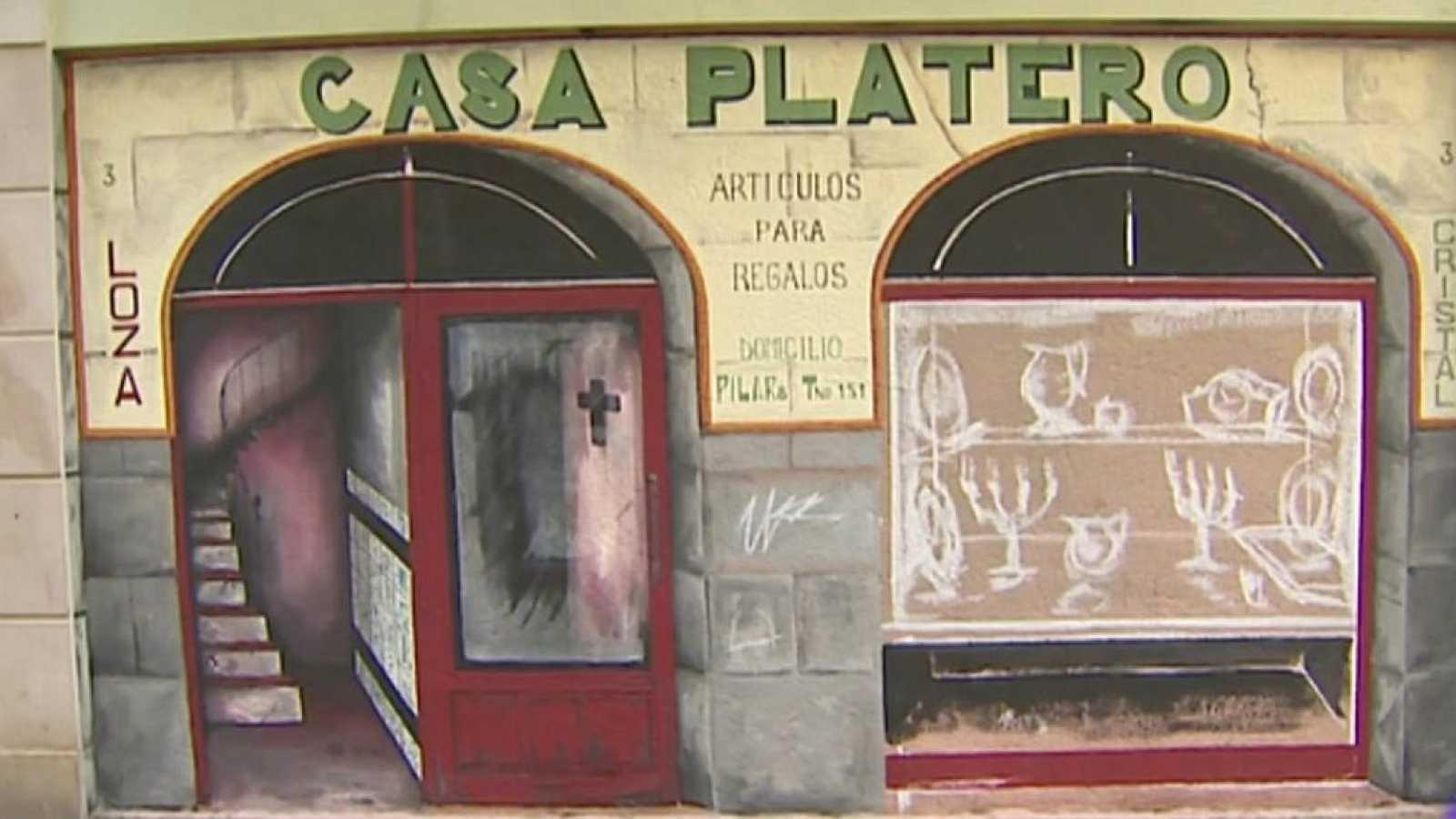 Murales que rinden homenaje al pequeño comercio tradicional