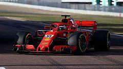 Carlos Sainz realiza su primera prueba al volante de un Ferrari