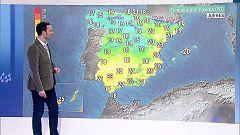 Tiempo estable y ascenso térmico casi generalizado con máximas de 25 grados en el Mediterráneo