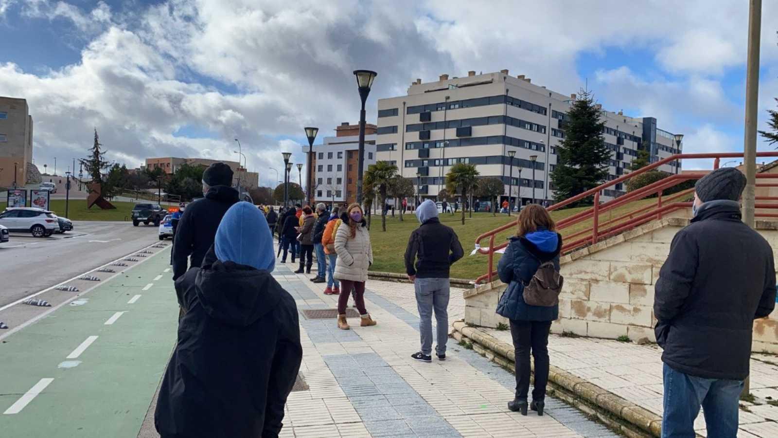 El pabellón Los Pajaritos de Soria acoge el cribado masivo que se desarrolla en la ciudad