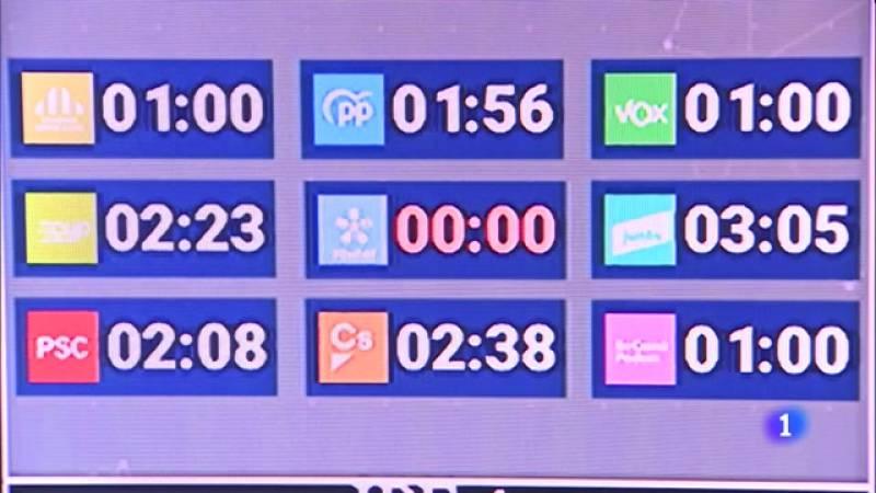 Primer debat televisat de candidats a les eleccions del 14-F, a RTVE