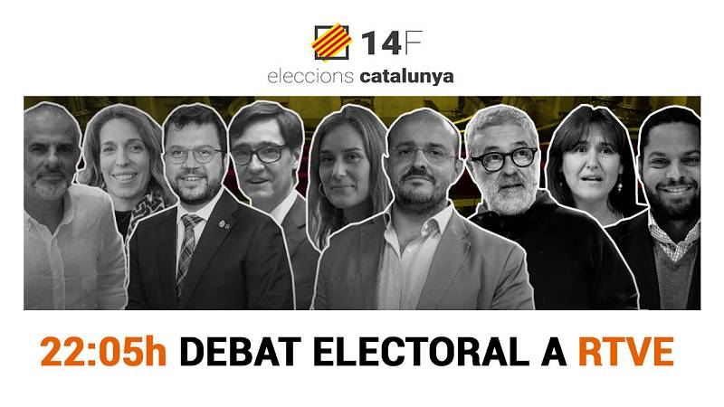 Debat de candidats del 14-F a RTVE
