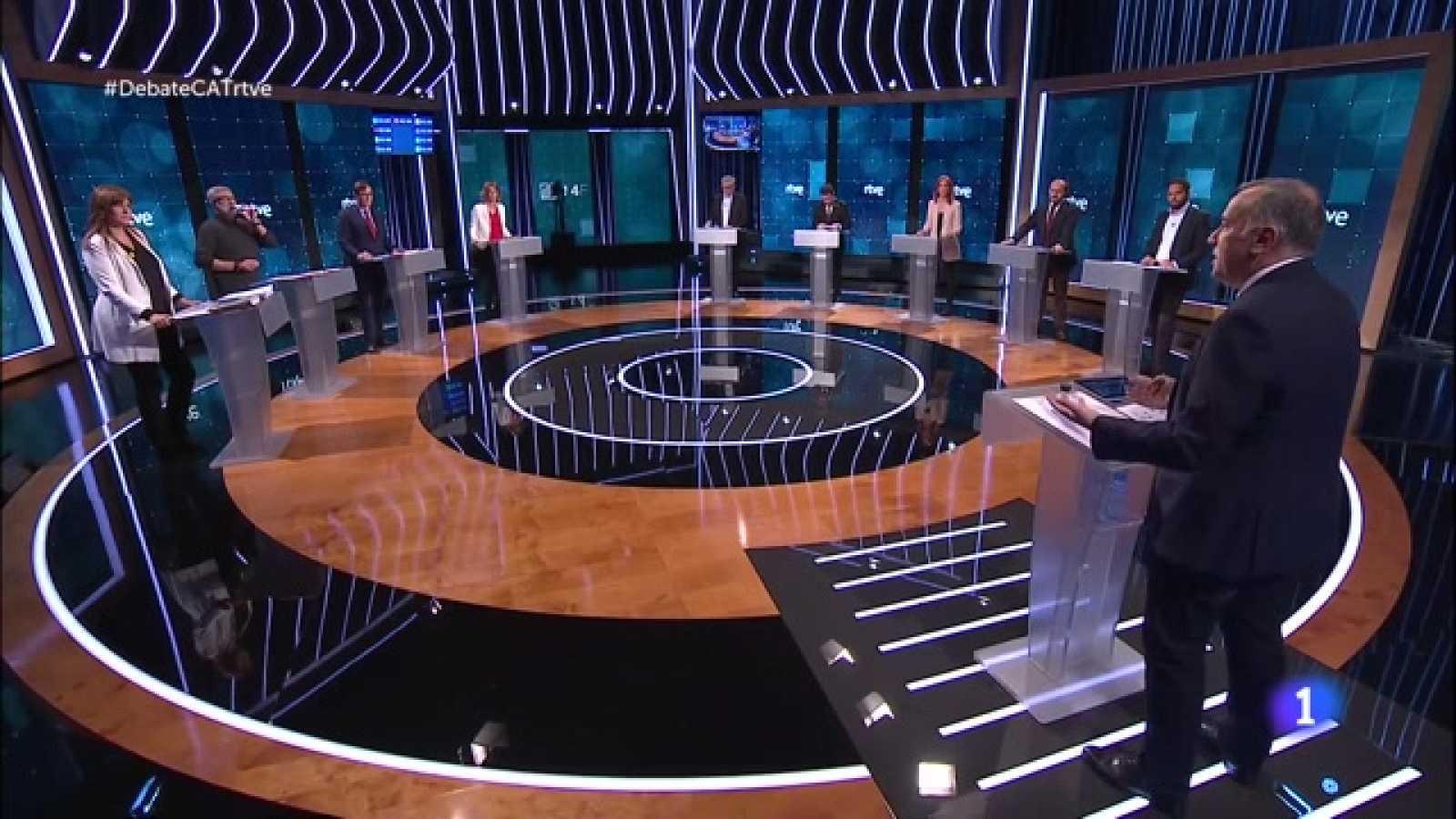 Debat electoral 14-F - La COVID centra el debat entre els candidats catalans amb acusacions a Illa i al Govern