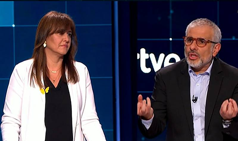 """Borràs se defiende de las acusaciones de corrupción de Carrizosa: """"Tengo la conciencia muy tranquila, no hay caso"""""""