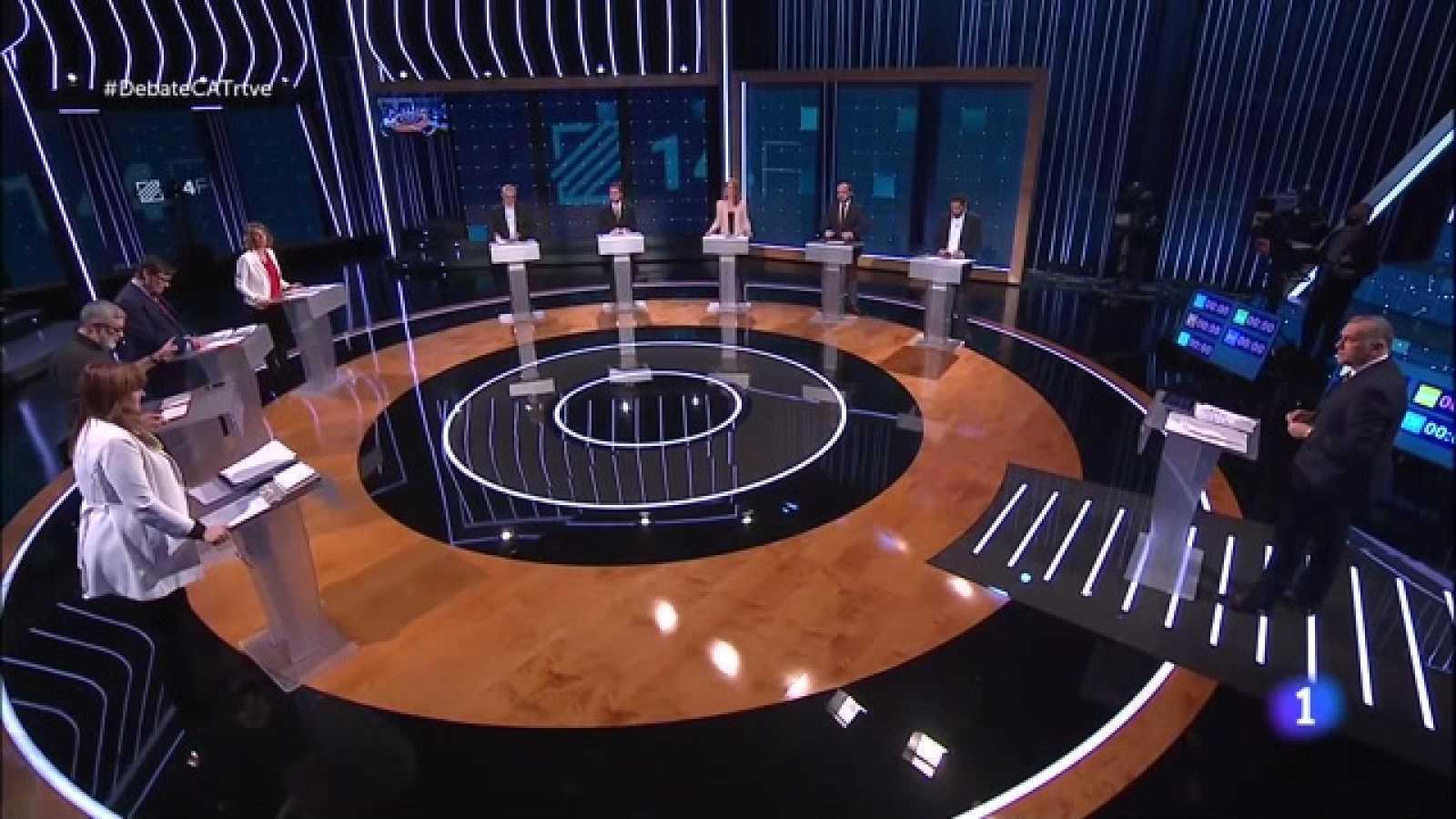 Debat Eleccions 14-F - Els nou candidats a presidir la Generalitat de Catalunya s'enfronten en el debat d'RTVE