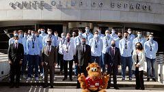 Recibimiento triunfal para los Hispanos tras su bronce en el Mundial de Egipto