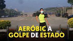 Una profesora da una clase de aeróbic grabando sin querer el golpe de Estado en Birmania