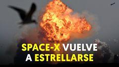 Explota al intentar aterrizar un prototipo del cohete Space X que quieren llevar a Marte