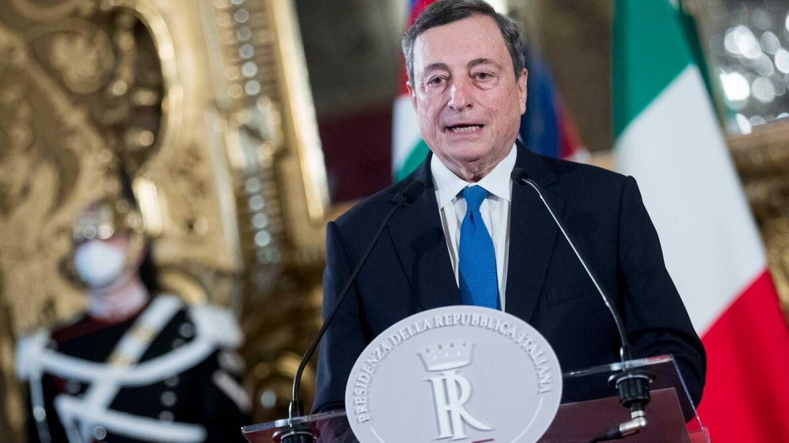 El expresidente del Banco Central Europeo, Mario Draghi acepta el reto de gobernar Italia