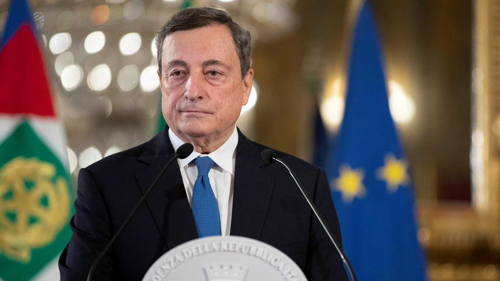 Draghi, más cerca de formar Gobierno en Italia tras el apoyo de Salvini y el M5S