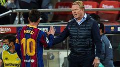 """Koeman: """"El futuro de Messi está en sus manos"""""""