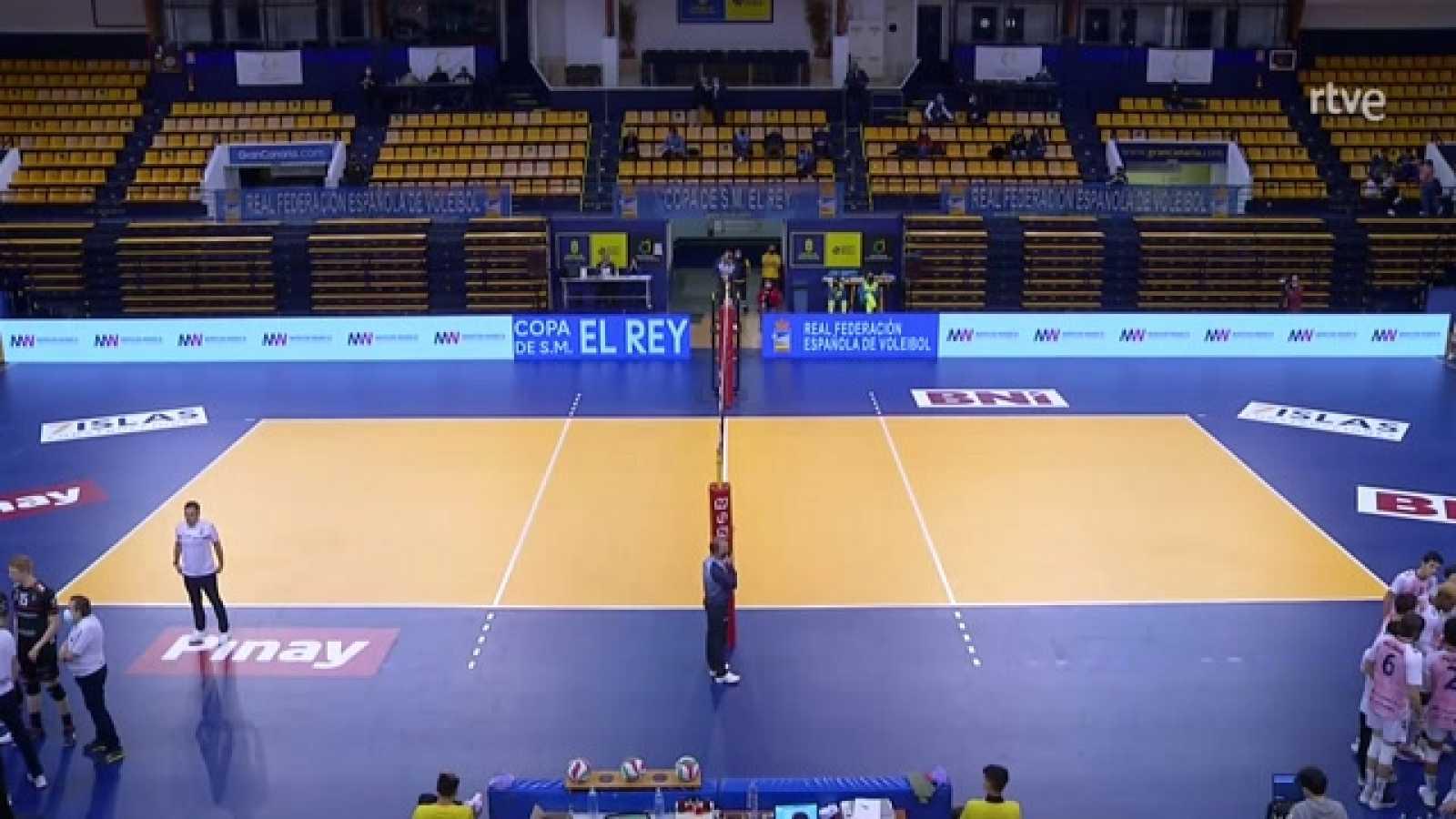 Copa del Rey de voleibol, semifinal: Urbia Uenergia Voley Palma - CV Teruel - partido completo