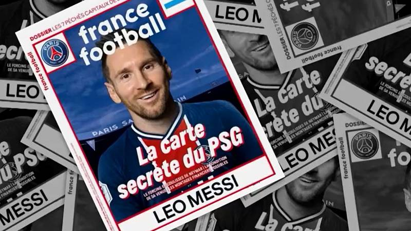 France Football viste a Messi con la camiseta del PSG