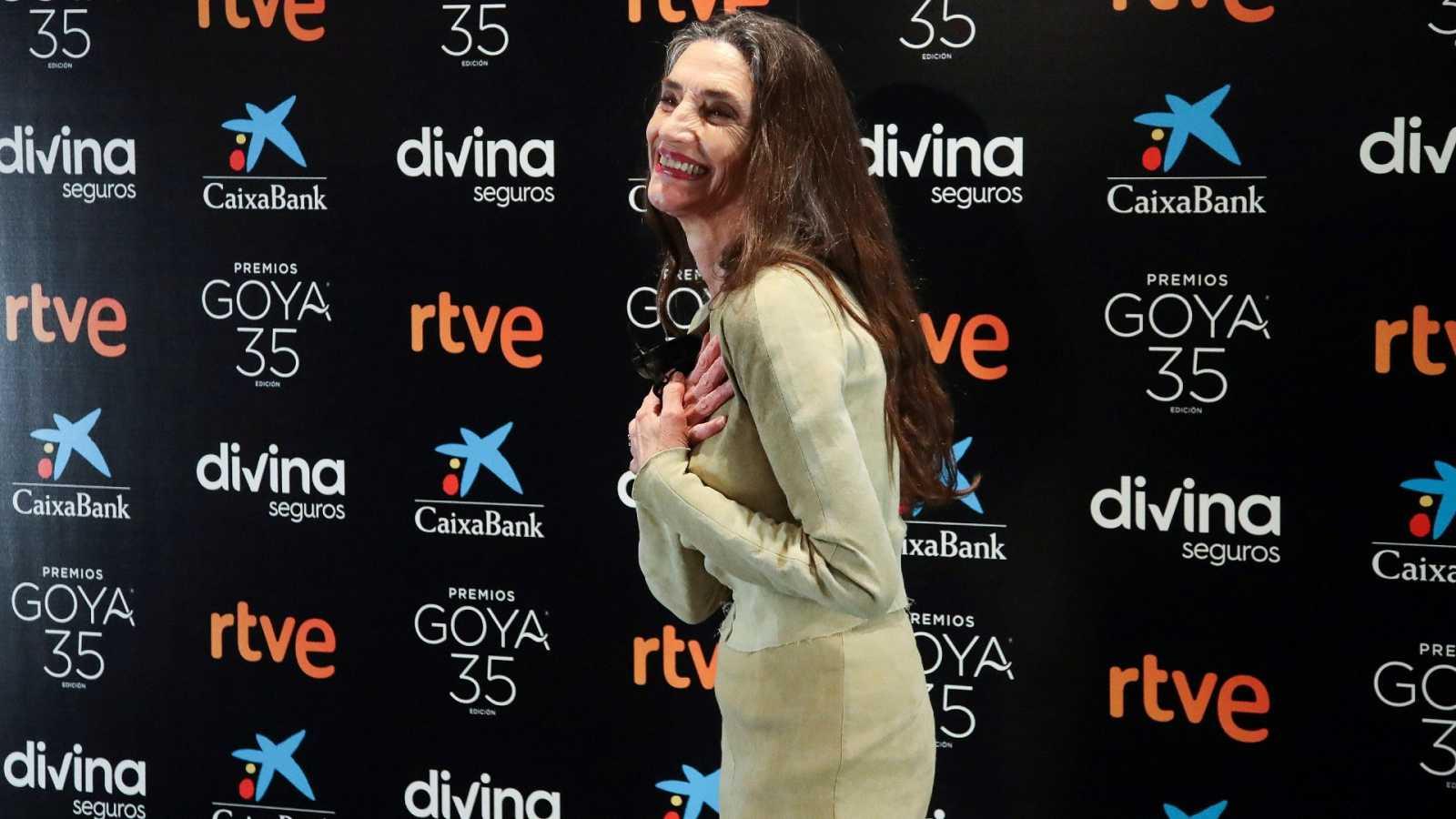 """Ángela Molina al saber que era el Goya de Honor 2021: """"Me llenó un sentimiento de júbilo que me hizo estallar en carcajadas"""""""