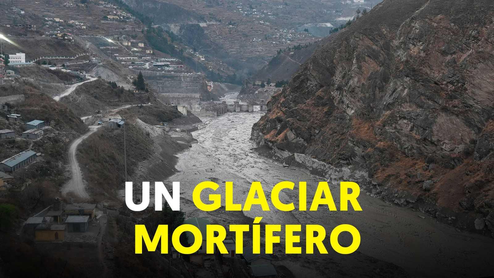 Buscan cerda de 200 desaparecidos en el Himalaya tras la riada que provocó el colapso de un glaciar