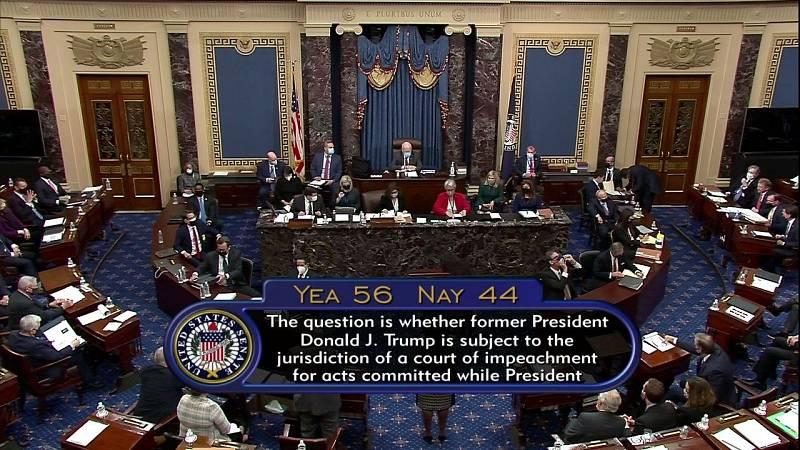 Tras evaluar la legitimidad del 'impeachment' a Trump, el juicio en el Senado sigue adelante