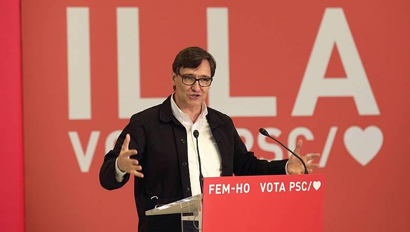 El veto al PSC y el rechazo de Illa a hacerse una prueba COVID marcan la recta final de la campaña