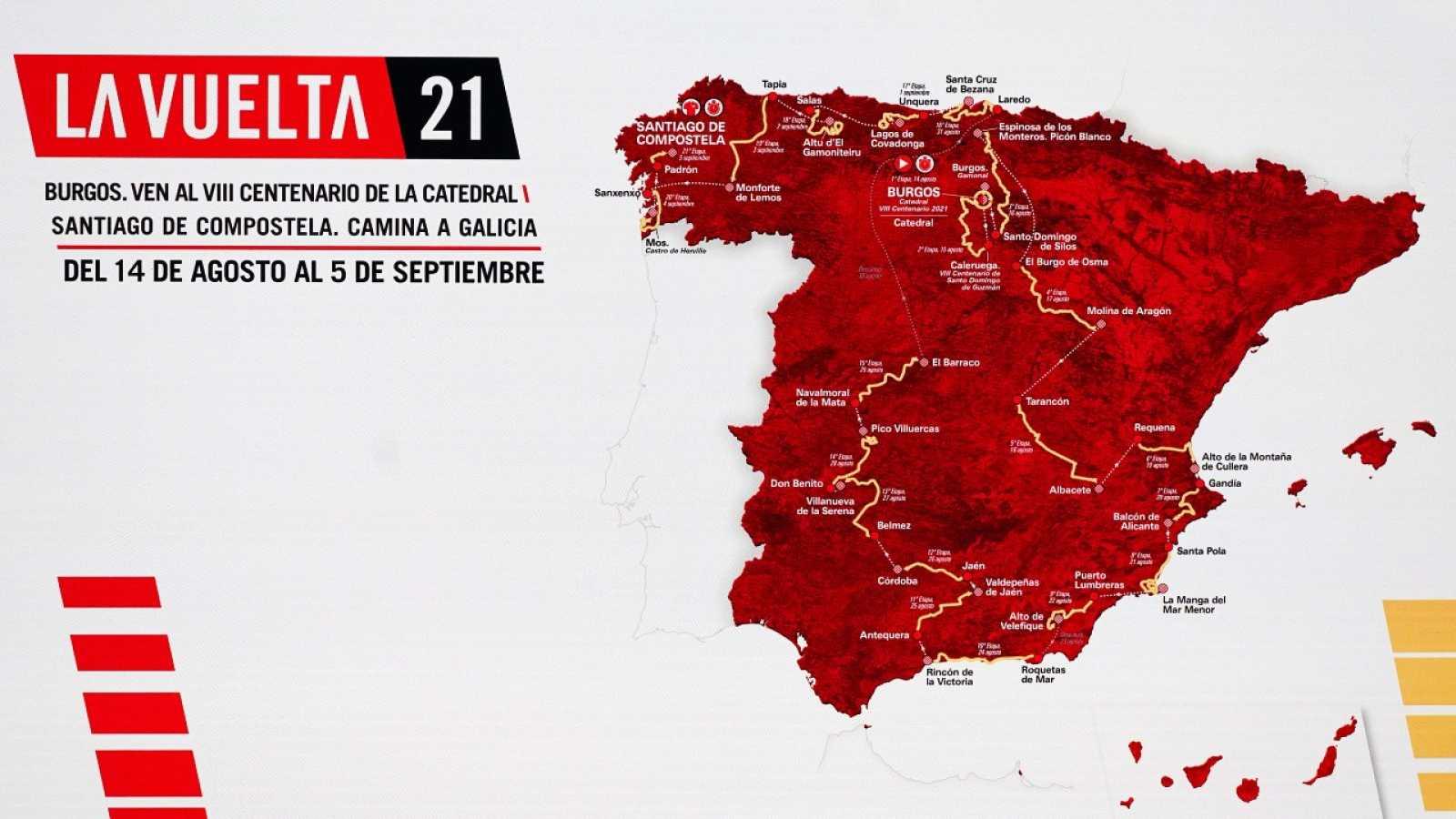 La Vuelta 2021, de Burgos a Santiago de Compostela