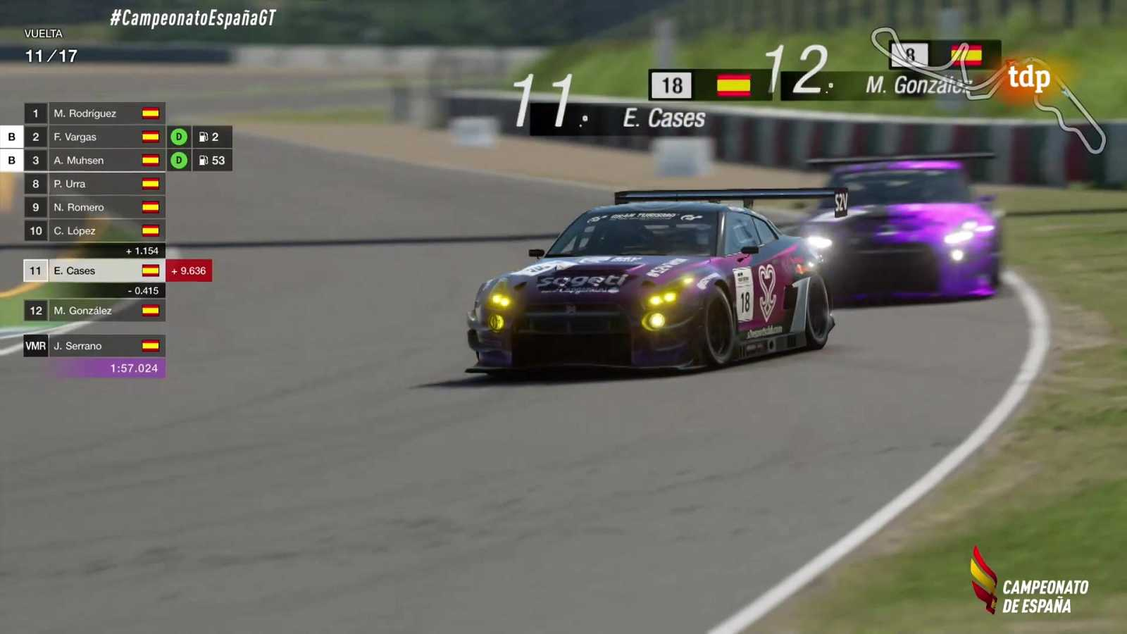 Automovilismo virtual - Campeonato de España Gran Turismo: Gran Premio - ver ahora