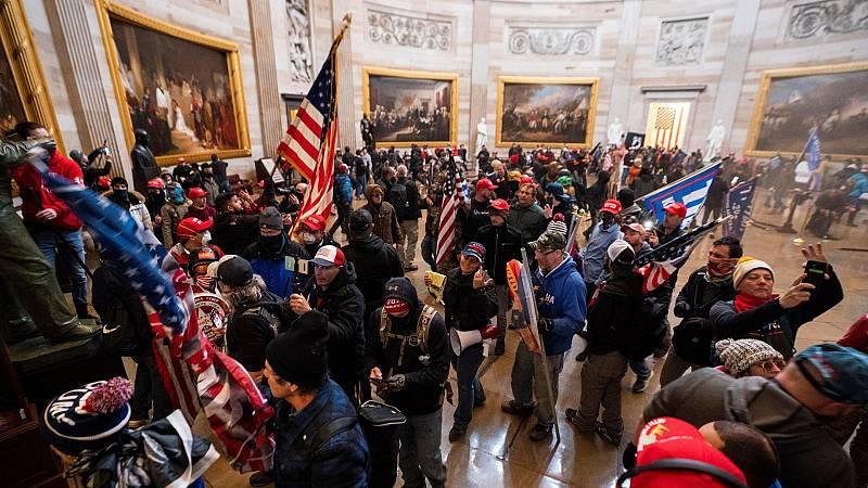 Revelan detalles de una llamada en la que Trump se habría negado a detener el asalto al Capitolio
