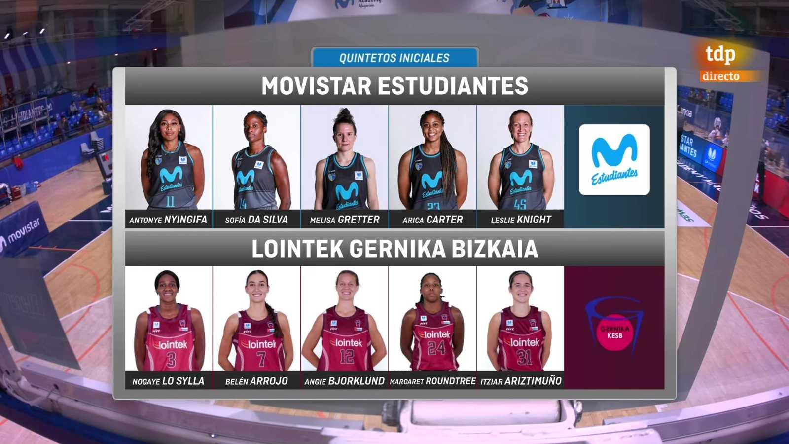 Baloncesto - Liga femenina Endesa. 25ª jornada: Movistar Estudiantes - Lointek Gernika - ver ahora
