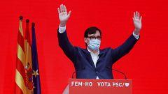 """Salvador Illa gana las elecciones en Cataluña: """"Me presentaré a la investidura"""""""
