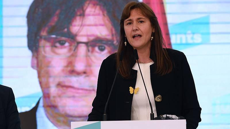 """Laura Borràs (Junts): """"Hemos perdido dos escaños, pero el independentismo ha ganado pese a la pandemia, la represión y la división interna"""""""