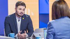 """Rufián ve """"casi imprescindible"""" que los 'comunes' se sumen a un Govern liderado por ERC para """"decantar la balanza"""" hacia la izquierda"""