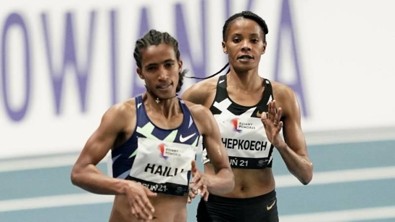 Hailu vence el pulso ante Chepkoech en los 3.000m en Torun