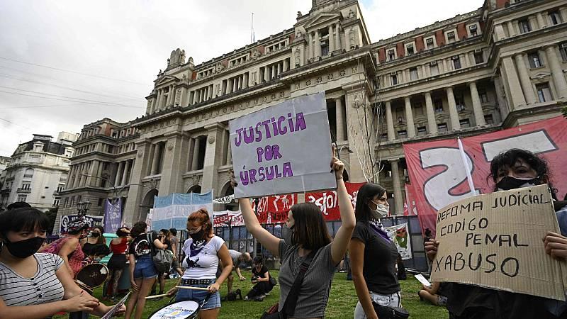 Protestas en Argentina por la última mujer asesinada