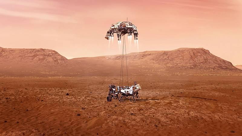 """El aterrizaje del Perseverance en Marte: """"siete minutos de terror"""""""