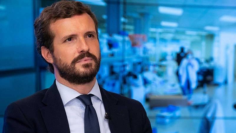 """Caso Hasel: Unidas Podemos dice que no alienta la violencia y Casado pide a Sánchez que """"pare los pies"""" a Iglesias"""