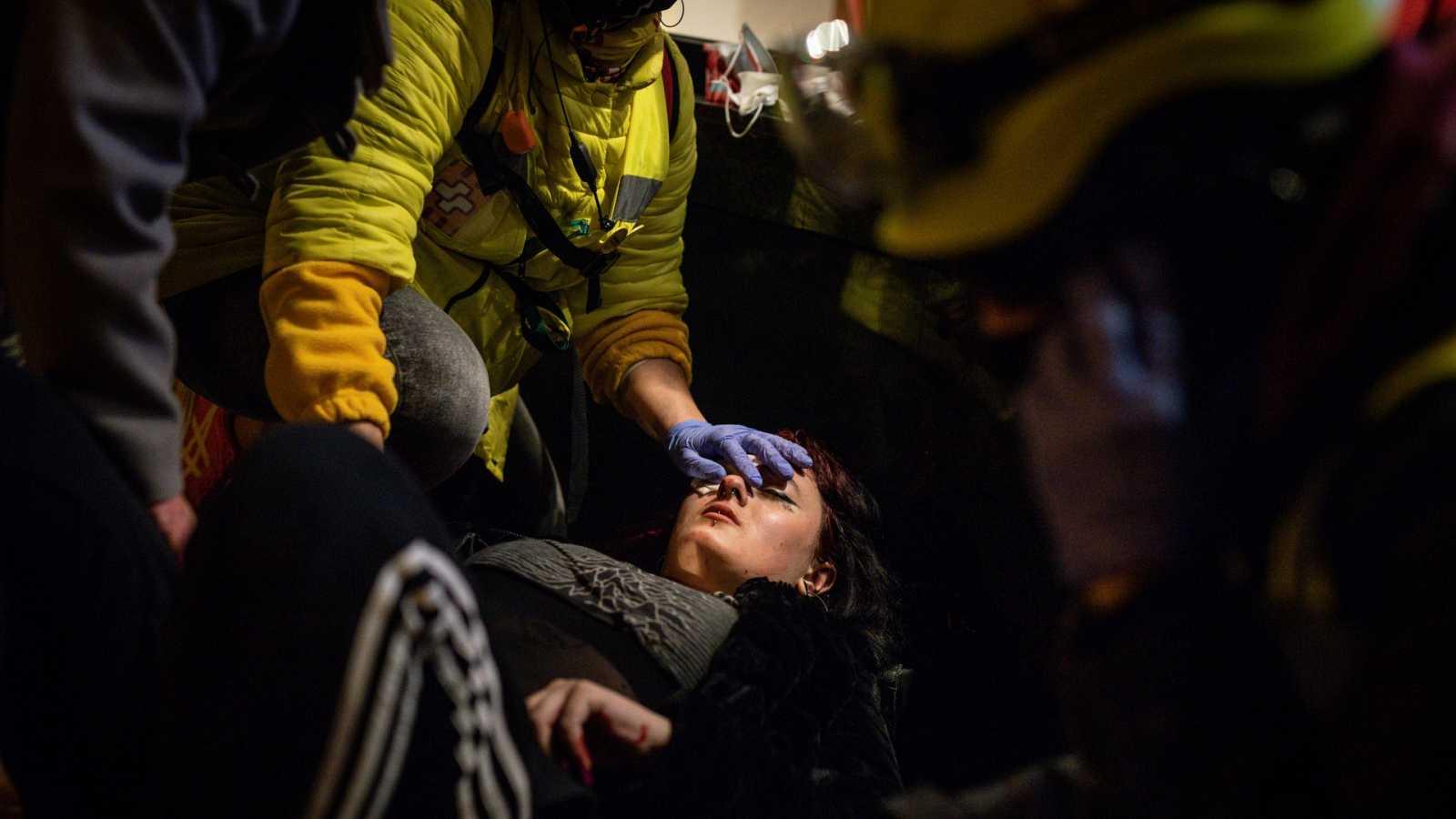 """El centro Irídia de DD.HH., sobre la manifestante que perdió el ojo: """"Estamos convencidos de que ha sido un proyectil de foam"""""""