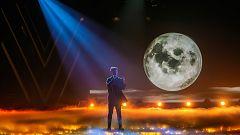 """Eurovisión - Puestas en escena de las canciones de Blas Cantó, """"Memoria"""" y """"Voy a quedarme"""""""