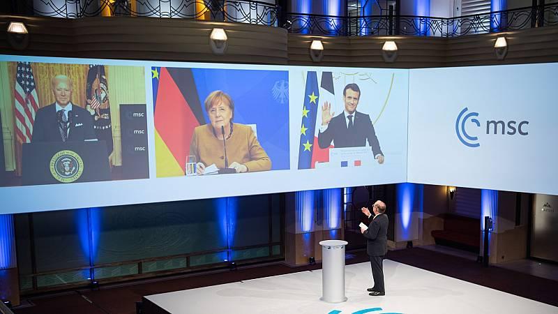 """Biden asegura que """"la alianza transatlántica"""" entre EE.UU. y Europa """"ha vuelto"""""""
