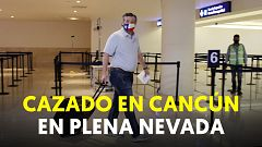 Ted Cruz, senador republicano por el estado de Texas, cazado en Cancún en plena nevada