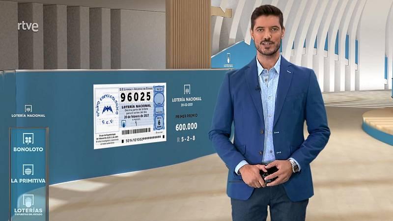 Sorteo de la Lotería Nacional del 20/02/2021 - ver ahora