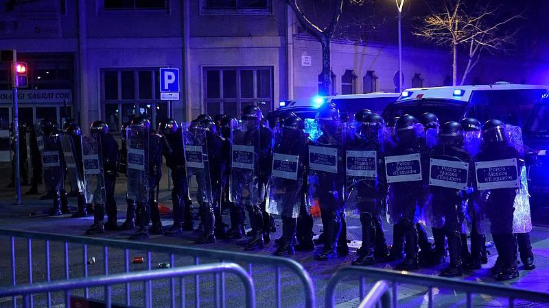Malestar en los Mossos por las críticas a su intervención en los disturbios