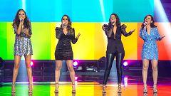 Eurovisión 2021 - Alba, Mirela, Lydia Fairen y Lucía Estrella sorprenden a Blas Cantó