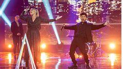 Edurne 'da la nota' con Blas Cantó en 'Destino Eurovisión'