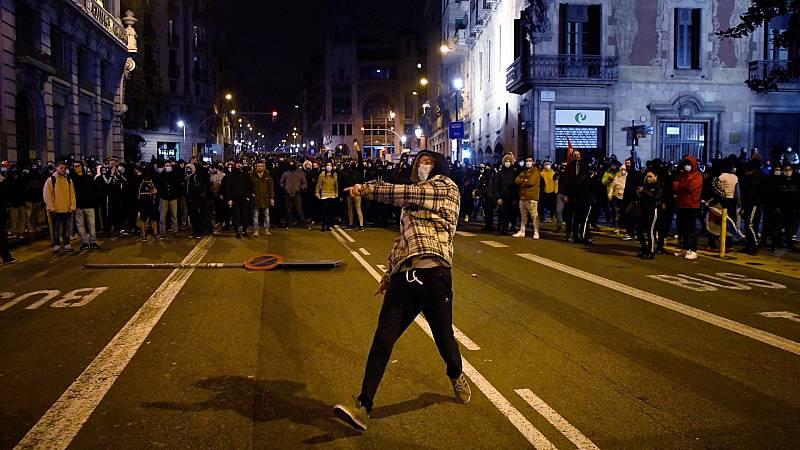 Sexta jornada de movilizaciones en Barcelona contra el encarcelamiento de Pablo Hasel