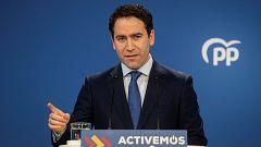 El PP afirma que el PSOE ha aceptado excluir a Unidas Podemos de la negociación para renovar el CGPJ